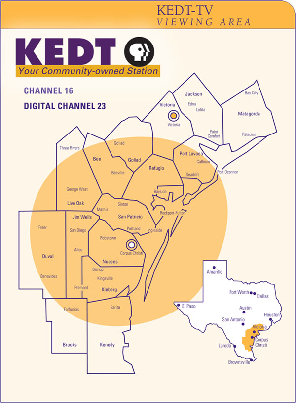 TV & Radio Coverage Maps | KEDT-TV | KEDT-FM Digital Tv Reception Map on
