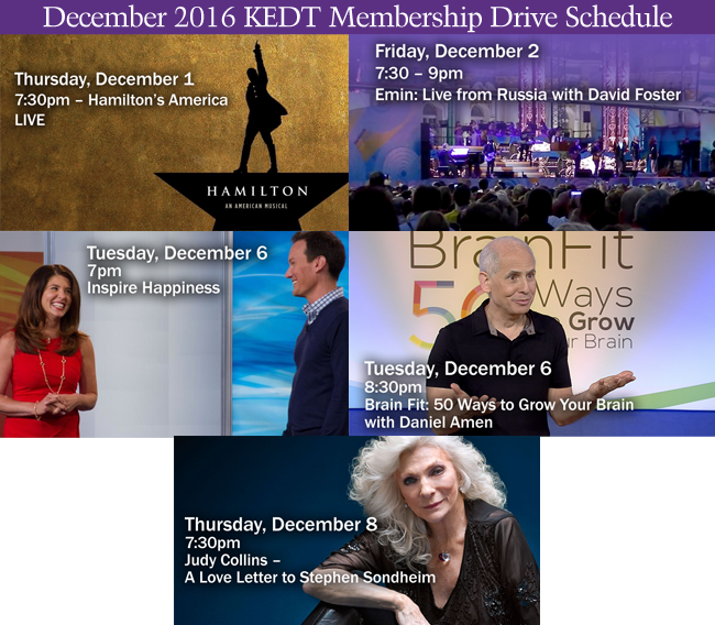 Click for the Full December Drive Shedule! Begins November 25th!
